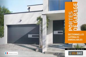 Couverture du catalogue de portes de garage Solabaie Collection 2018-2019
