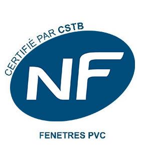 Logo NF certifications Fenêtres PVC obtenu par Solabaie