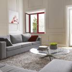 Fenêtre intérieur alu bicolore rouge