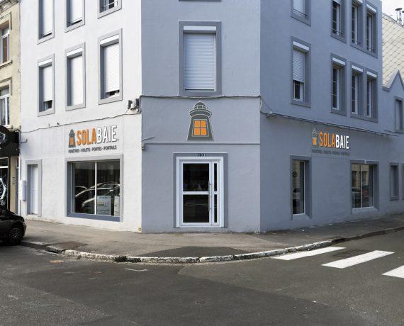 Devanture du magasin de votre menuisier Solabaie Boulogne-sur-Mer