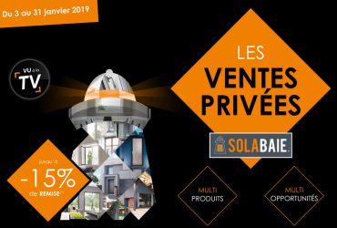 En ce moment profitez des ventes privées Solabaie, jusqu'à -15% de remise