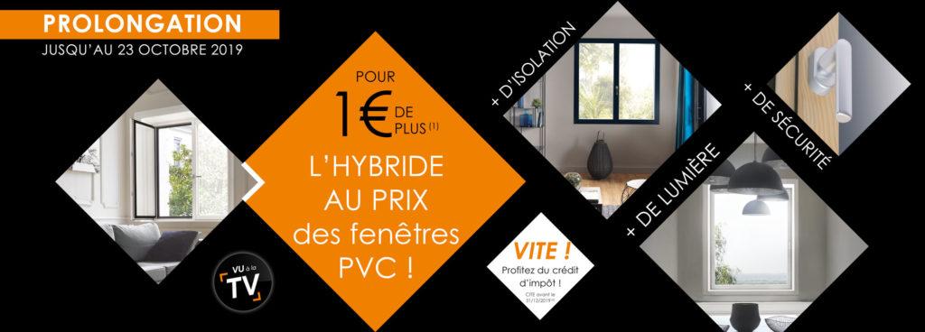 Prolongation de notre offre promotionnelle sur nos fenêtres Hybrides SOLABAIE !